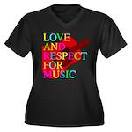 kuuma music 1 Women's Plus Size V-Neck Dark T-Shir