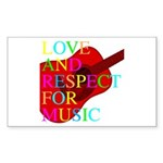 kuuma music 1 Sticker (Rectangle)