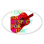 kuuma music 1 Sticker (Oval 10 pk)