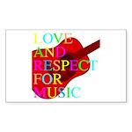 kuuma music 1 Sticker (Rectangle 50 pk)