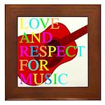 kuuma music 1 Framed Tile