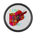 kuuma music 1 Large Wall Clock