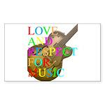 kuuma music 2 Sticker (Rectangle)