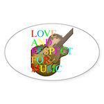 kuuma music 2 Sticker (Oval 10 pk)