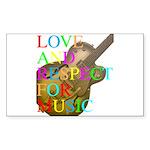 kuuma music 2 Sticker (Rectangle 50 pk)