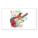 kuuma music 3 Sticker (Rectangle)