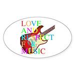 kuuma music 3 Sticker (Oval)