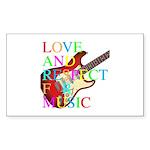 kuuma music 3 Sticker (Rectangle 10 pk)