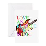 kuuma music 3 Greeting Cards (Pk of 10)