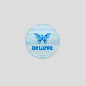 iBelieve Blue Mini Button