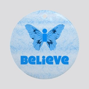 iBelieve Blue Ornament (Round)