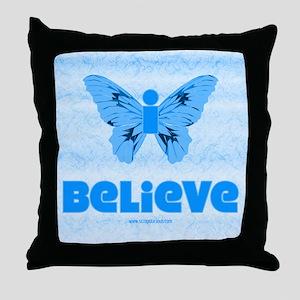 iBelieve Blue Throw Pillow