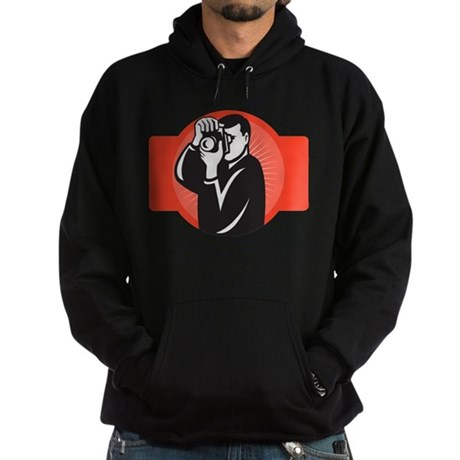 photographer dslr camera Hoodie (dark)