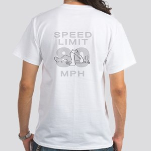 <B>Speed Limit 80MPH</B><BR> White T-Shirt