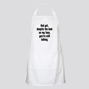 you're still talking Apron
