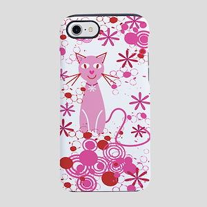 Fancy Pink Cat iPhone 7 Tough Case