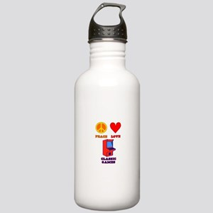 Peace Love Classic Games Stainless Water Bottle 1.