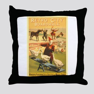 The Musical Donkey Throw Pillow