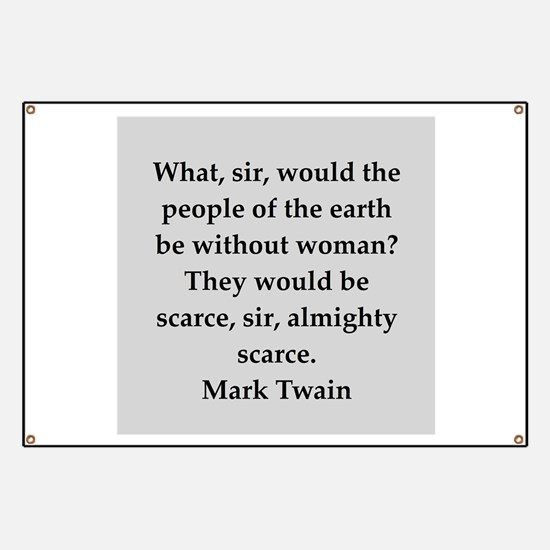 Mark Twain quote Banner