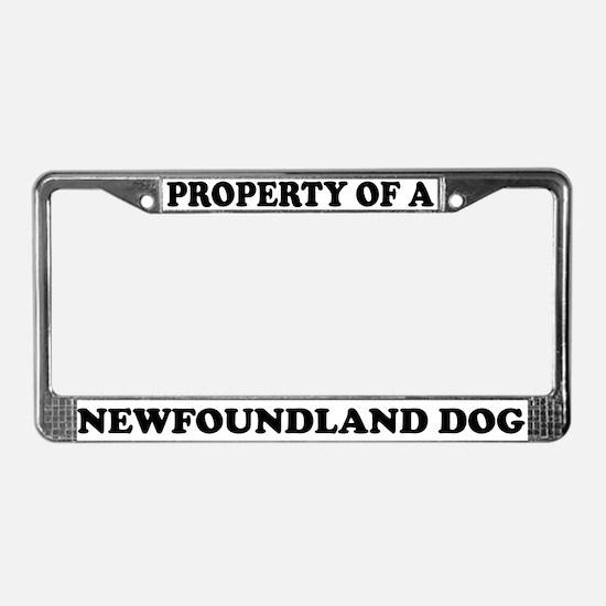 Property Of A Newfoundland Dog License Plate Frame