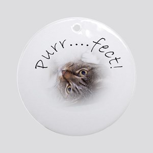 Purr...fect! Tabby Cat Ornament (Round)