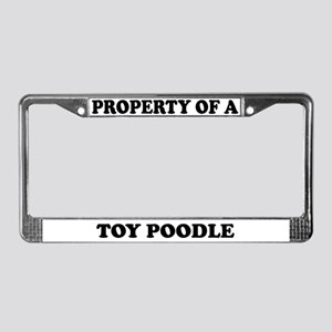 Property Of A Toy Poodle License Plate Frame