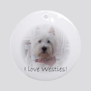 I love westies Ornament (Round)