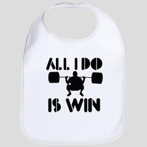 All I do is Win Powerlifter Bib