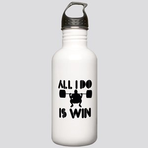 All I do is Win Powerlifter Stainless Water Bottle