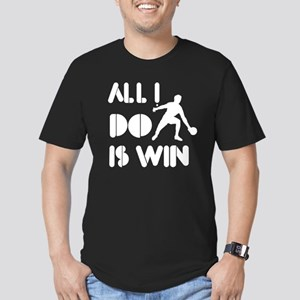 All I do is Win Pingpong Men's Fitted T-Shirt (dar
