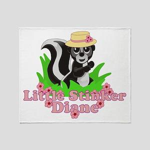 Little Stinker Diane Throw Blanket