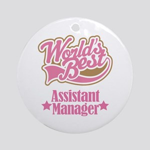 Assistant Manager Gift Ornament (Round)