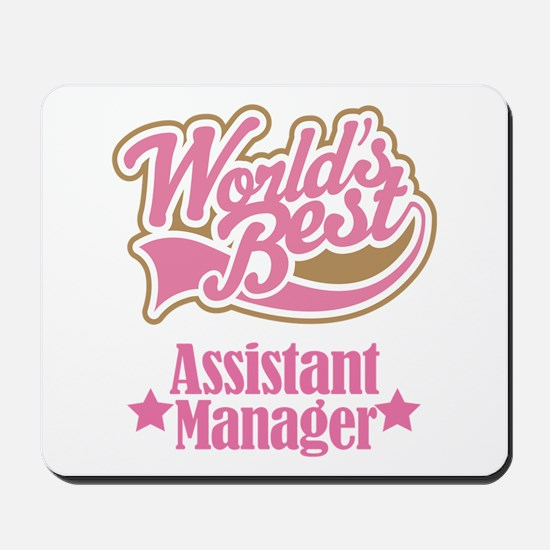 Assistant Manager Gift Mousepad