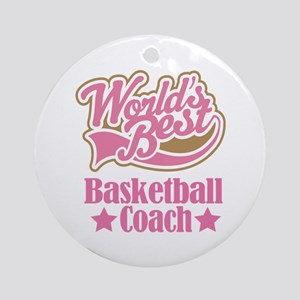Basketball Coach Gift Ornament (Round)