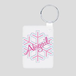 Snowflake Abigail Aluminum Photo Keychain