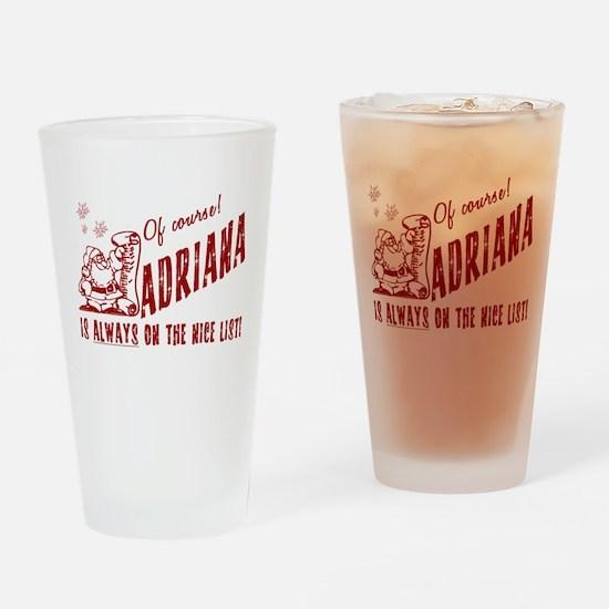 Nice List Adriana Christmas Drinking Glass