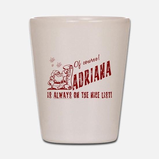 Nice List Adriana Christmas Shot Glass