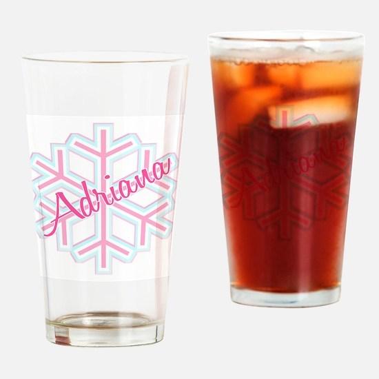 Snowflake Adriana Drinking Glass