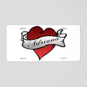 Adriana Heart Tattoo Aluminum License Plate