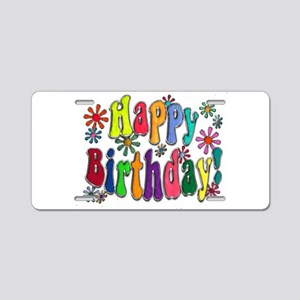 Happy Birthday Aluminum License Plate