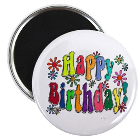 "Happy Birthday 2.25"" Magnet (10 pack)"