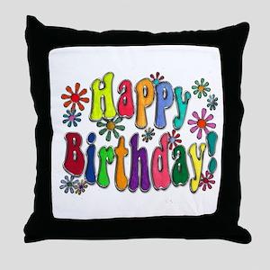 Happy Birthday Throw Pillow