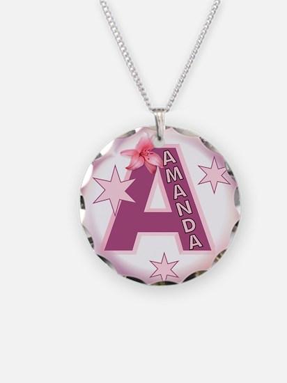 Amanda 1 inch Button Collecti Necklace