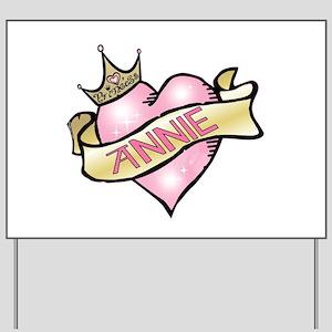 Sweetheart Annie Custom Princ Yard Sign