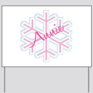 Snowflake Annie Personalized Yard Sign