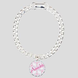 Annika Snowflake Personalized Charm Bracelet, One