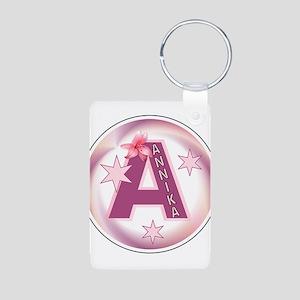 Annika 1 inch Button Collecti Aluminum Photo Keych