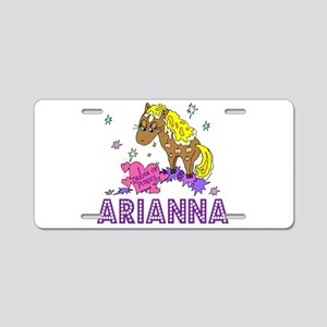 I Dream Of Ponies Arianna Aluminum License Plate