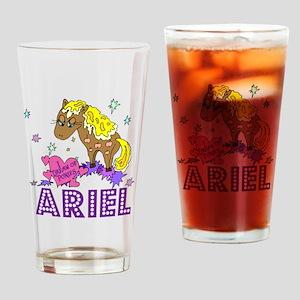 I Dream Of Ponies Ariel Drinking Glass