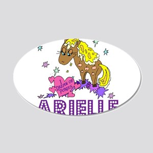 I Dream Of Ponies Arielle 22x14 Oval Wall Peel